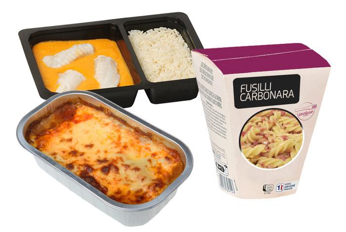 Dosages de plats cuisinés en barquette operculées ou en emballages thermoformés