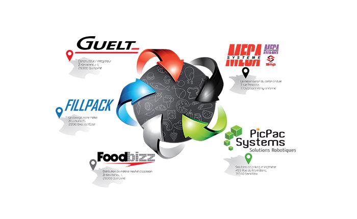 Fédération d'entreprises Guelt, Fillpack, Méca-Système, PicPac Systems et Foodbizz