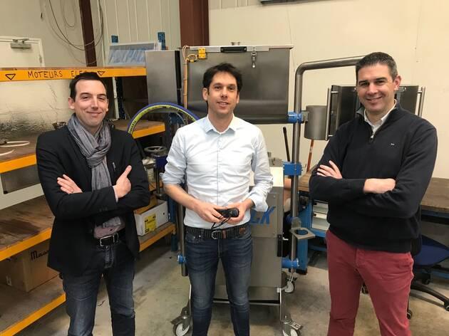 Les 3 associés qui ont repris Fillpack : Gwenvael Peres, président; Vincent Kervella, directeur technique et Benoît Keravec, directeur commercial | Ouest-France